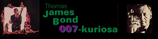 Thomas James Bond 007-kuriosa
